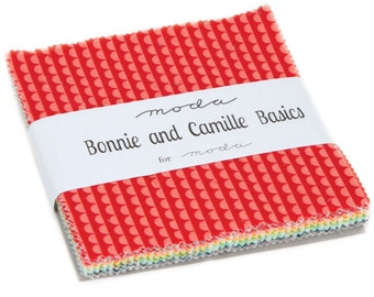 """Bonnie & Camille Basics 5"""" Squares Charm Pack by Bonnie and Camille for Moda, 42 pieces"""