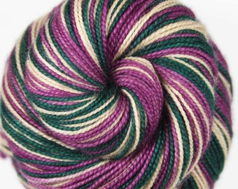 VINTAGE CHRISTMAS Self-stripe Superwash Merino/Nylon Self-Striping Fingering Weight Yarn