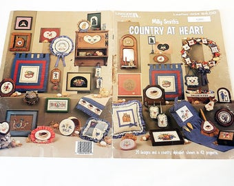 Cross Stitch Pattern Booklet / Country at Heart/ Milly Smith/ Leaflet 404/ 20 Designs