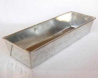Vintage EKCO Long Steel Loaf Pan No. T640 French Bread Loaf Pan Italian Bread Loaf Pan