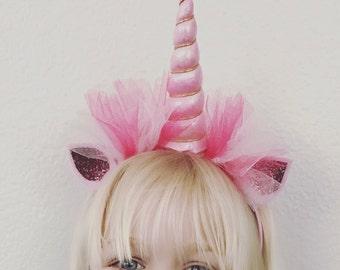 Unicorn Headband, Unicorn Party,  Valentine Headband, Valentines Bow, Unicorn