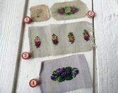 Pick One Antique Embroidered Petit Point Applique (Ref:  A-4658  Box 1)