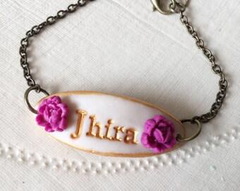 Custom Name Girl Bracelet, Gift for 3,4,5,6,7,8,9,10 year old girl