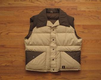 mens vintage Stearns goose down vest