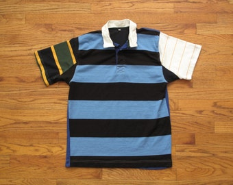mens vintage crazy pattern rugby shirt