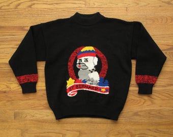womens vintage Saint Bernard sweater