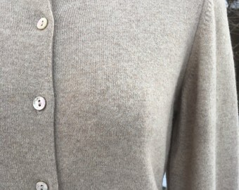 Vintage Cashmere Cardigan Sweater, Flawless 1960's