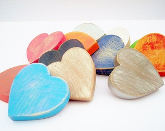 Wooden Hearts Shabby Chic, Country Cottage Bowl Filler