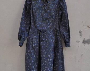 Parisenne Gérard St-Albin 1950s Forget-me-not dress