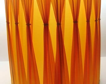 Vintage Orange Lamp Shade