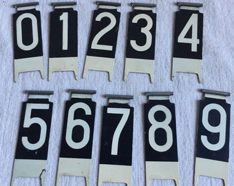 Vintage cash register numbers  mixed media supply  jewelry supply