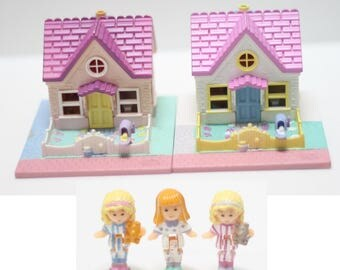 Polly Pocket Double Cozy Cottage '93 COMPLETE