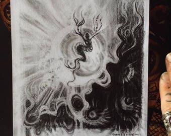 Black Sea Demon /// Graphite Original Sketch
