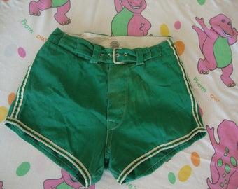 Vintage 60's Spalding Green Roller Derby Softball Ladies Short Shorts punk rock Petite size Jammer