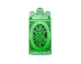 Vintage Neon GREEN Laser Cut WALL BOX