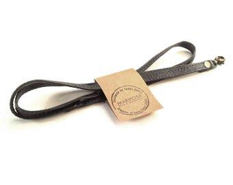 Leather lanyard, lanyard, leather keychain, leather key strap, leather key strap, Leather Neck Strap, Neck Lanyard, unisex style