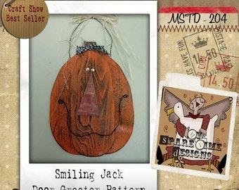 Wooden Pumpkin Pattern, Primitive Halloween Pattern, Primitive Fall Pattern,  Holiday Folk Art, Primitive Pumpkin