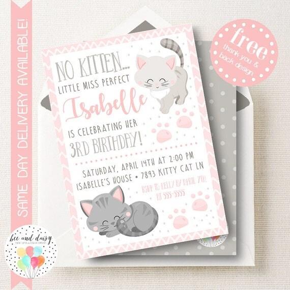 Kitten invitation kitten birthday invitation kitten birthday party il570xn filmwisefo