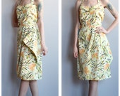 1990s does 1950s Dress // Summer Sarong Dress // vintage 90s does 50s dress