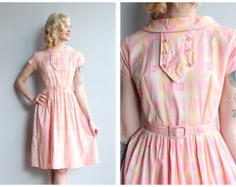1950s Dress // Salt Water Taffy Dress // vintage 50s dress