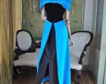 Vintage maxi party Dress   Velvet   size L