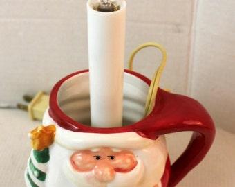 Homemade santa accent lamp seasonal home decor Christmas