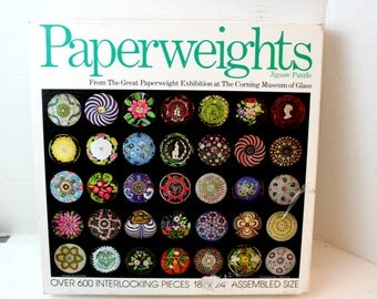 paperweight glass collection puzzle 600 piece