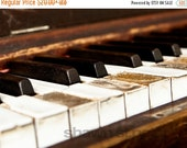 FLASH SALE til MIDNIGHT Vintage Piano Keys Photographic Art Print ,Decorating Ideas, Wall Decor, Wall Art, Gift Ideas, Home Decor, Photograp