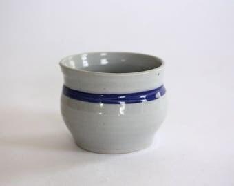 Round Vintage Striped Pot, Vase from Jamestown Pottery