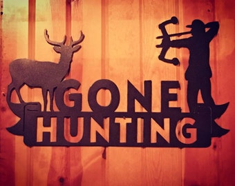 Bow Hunting Metal Sign