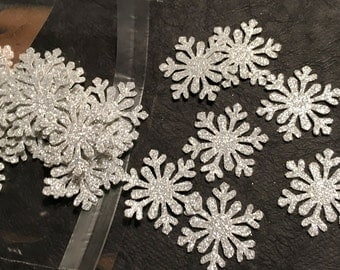 Confetti, 100 ct Glitter Snowflake Confetti Party Decor Table Decorations, MANY COLORS AVAILABLE