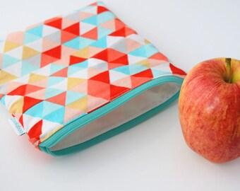 Triangle Bag - Triangle Zipper Pouch - Teacher Gift for Her - Teacher Gift Bag -  Reusable Bag - Back to School Supplies