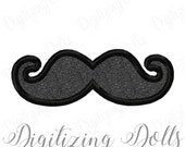 Mustache Applique Machine Embroidery Design Digital File 2x2 3x3 4x4 5x7 gentleman mustach boy INSTANT DOWNLOAD