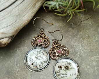 Old World - Mixed Media Earrings