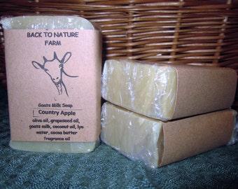 Handmade Country Apple Goats Milk Soap