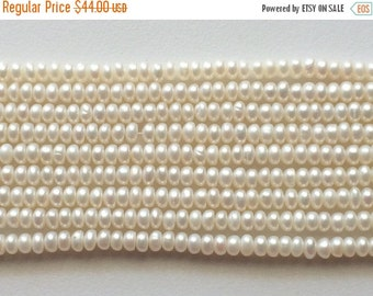 ON SALE 55% Pearls - Ivory Color Pearls, Natural Fresh Water Corn Pearls, Natural Pearls, Ivory Pearls, 6.5mm, 16 Inch Strand, Wholesale Pri