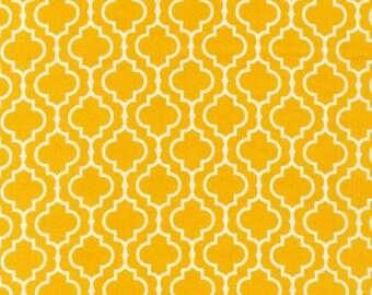 "3 Yard Cut Metro Living Marigold and White ""Geometric"" by Robert Kaufmann"