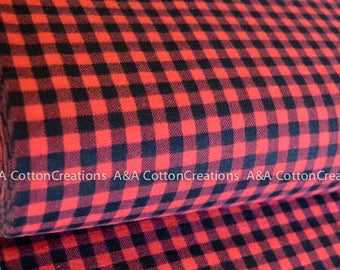 Quilting Cotton, Burly Beavers Fabric, Red Black Plaid Fabric, Hipster fabric, Boy Fabric, Apparel Fabric, Robert Kaufman Fabrics