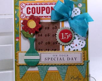 On Your Special Day All Occasion Greeting Card Polly's Paper Studio Handmade w/envelope