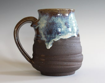 Pottery Coffee Mug, 15 oz, handmade ceramic cup, handthrown mug, ceramic stoneware pottery mug unique coffee mug ceramics and pottery