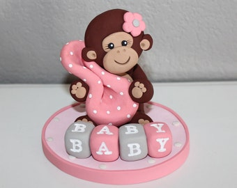 Monkey Custom Cake Topper for Birthday or Baby Shower