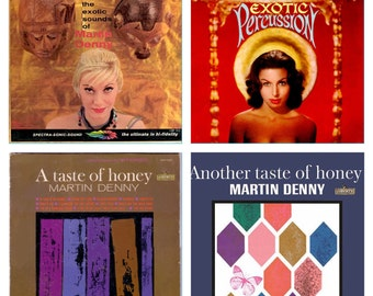 Martin Denny Exotica Vinyl Record Lot