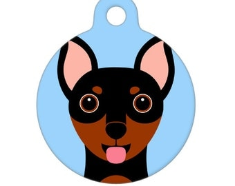 Pet ID Tag - Miniature Pinscher Pet Tag, Dog Tag