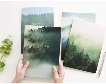 4 Pcs Mist Forest Traveler's Journal Notebook Journal Planner Journal Insert Planner Insert Hand Book