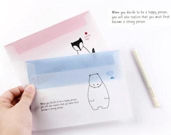8 Pcs Envelopes Glassine Envelopes Clear Envelopes Envelopes Sets