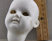 Vintage Antique Excavated Large German  Doll Head Doll Repair Parts Altered Art Doll Supplies from Oscarcrow