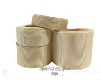 10 Yards WHOLESALE Solid Ivory grosgrain ribbon LOW SHIPPING Cost