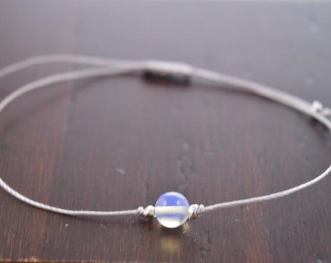 Opalite Bracelet, faux opal, october birthstone, wish bracelet, best friend gift, minimalist jewelry, best friend bracelet, beaded bracelet