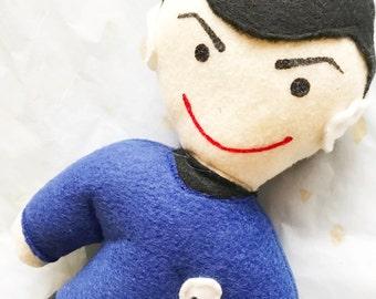Mr Spock Star Trek plush soft action figure doll