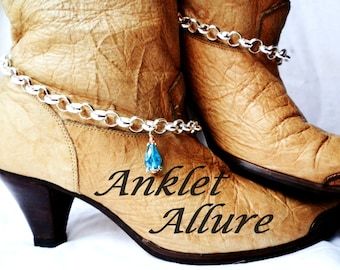 Crystal Boot Chains Elegant Boot Jewelry BoHo Boot Bracelets Crystal Foot Jewerly